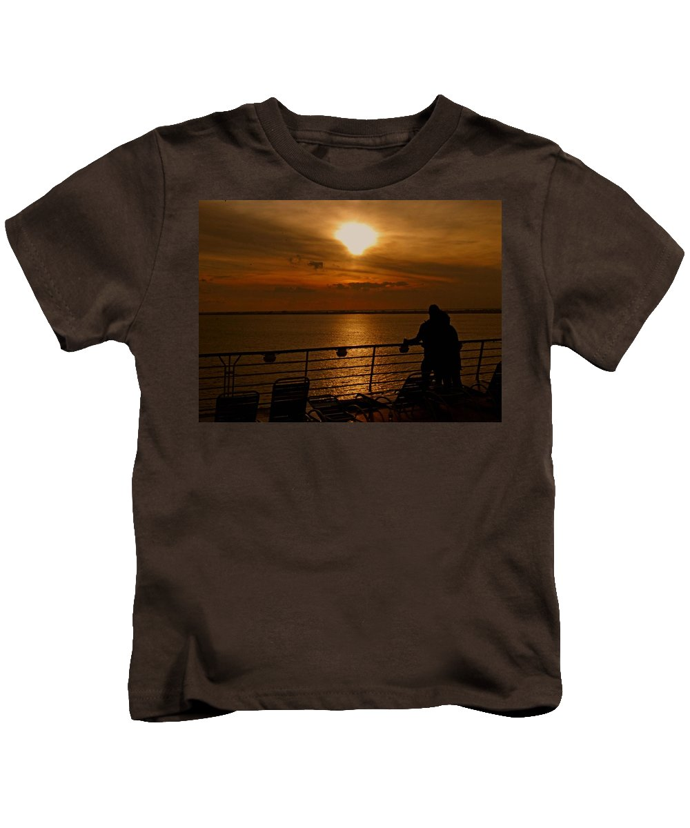 Sunset Kids T-Shirt featuring the photograph Sunset In Paradise by Gary Wonning