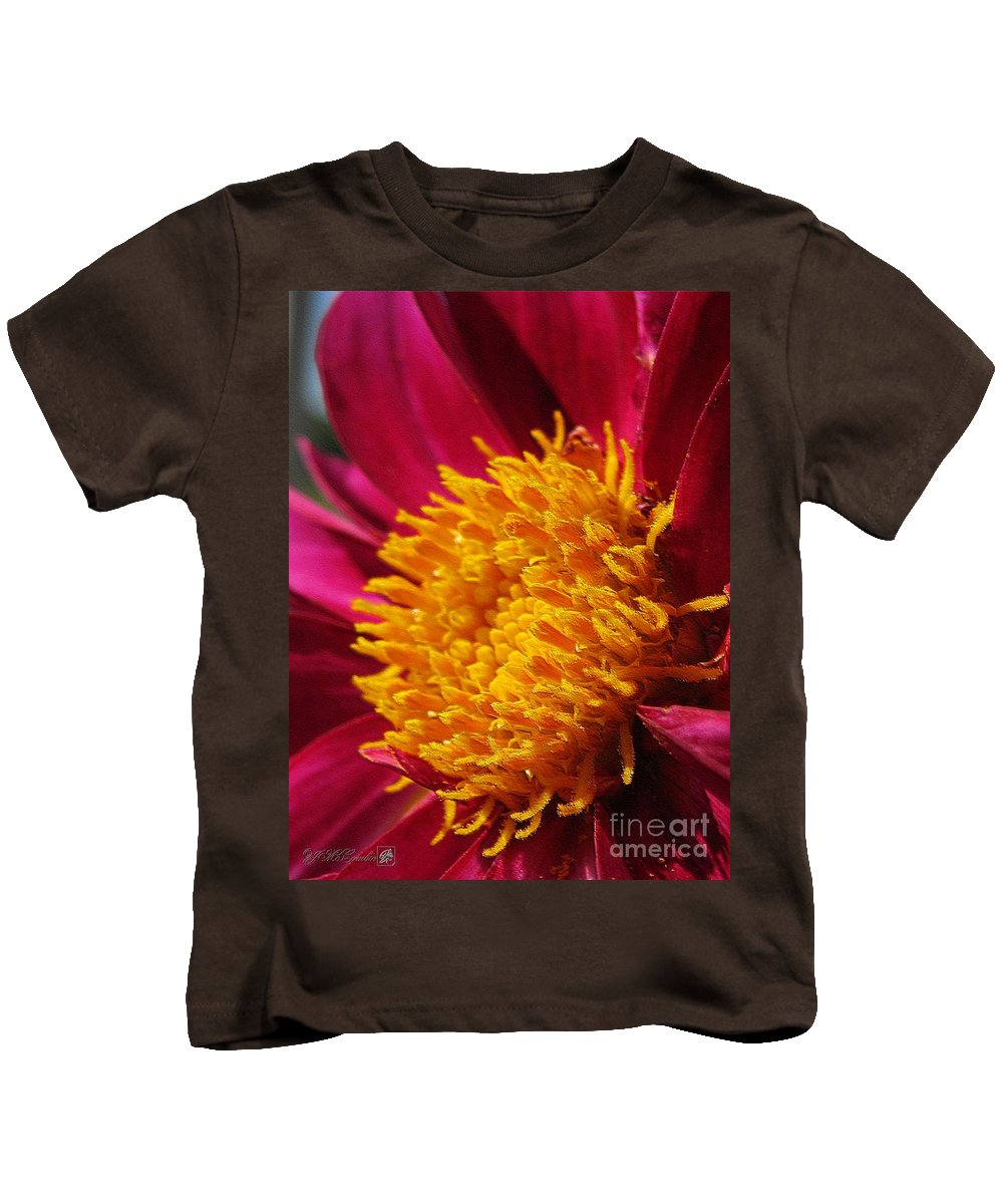 Dahlia Kids T-Shirt featuring the digital art Dahlia From The Showpiece Mix by J McCombie