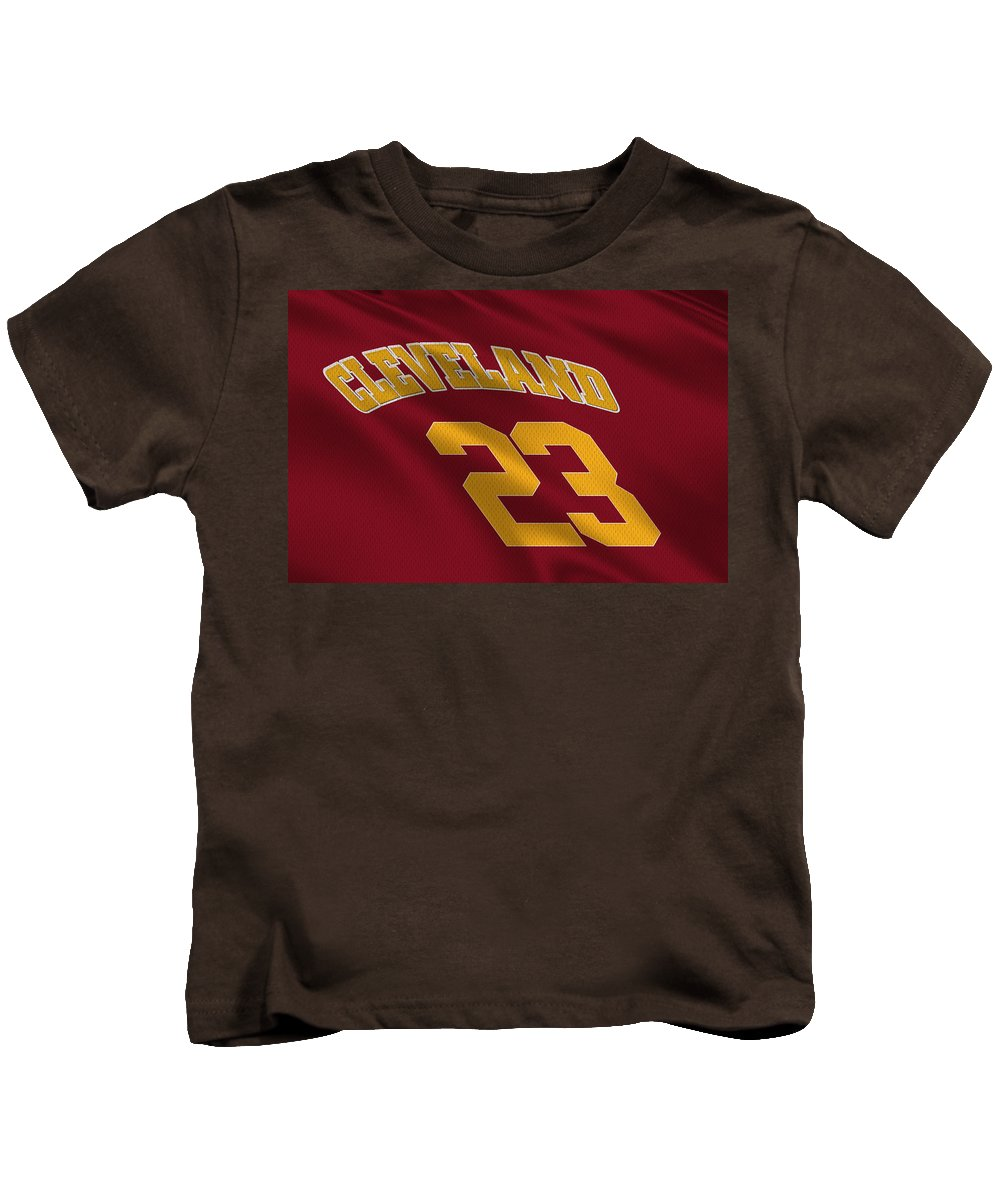 Cavaliers Kids T-Shirt featuring the photograph Cleveland Cavaliers Uniform by Joe Hamilton