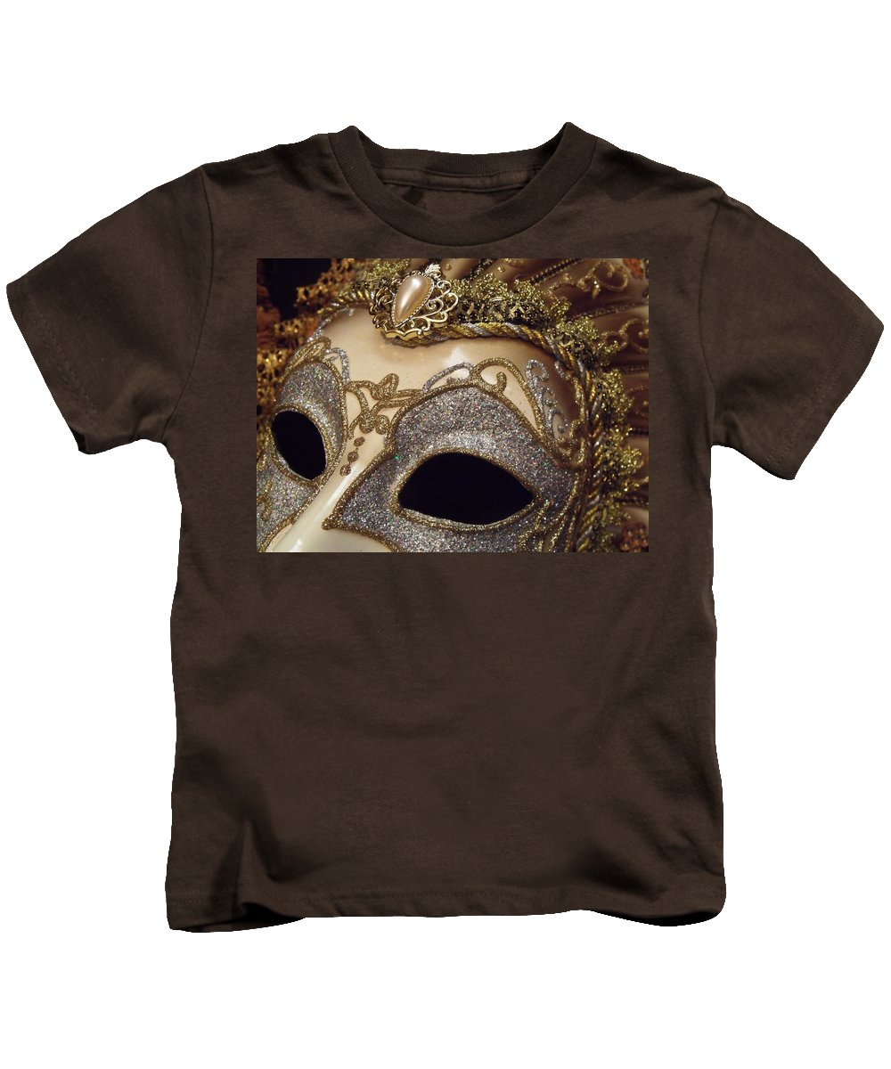 Masquerade Kids T-Shirt featuring the photograph 5838 by Onyx Armstrong