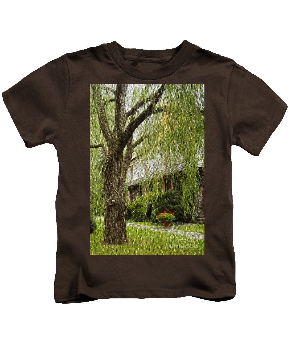 Tree Kids T-Shirt featuring the photograph A Few Red Flowers by Paul W Faust - Impressions of Light