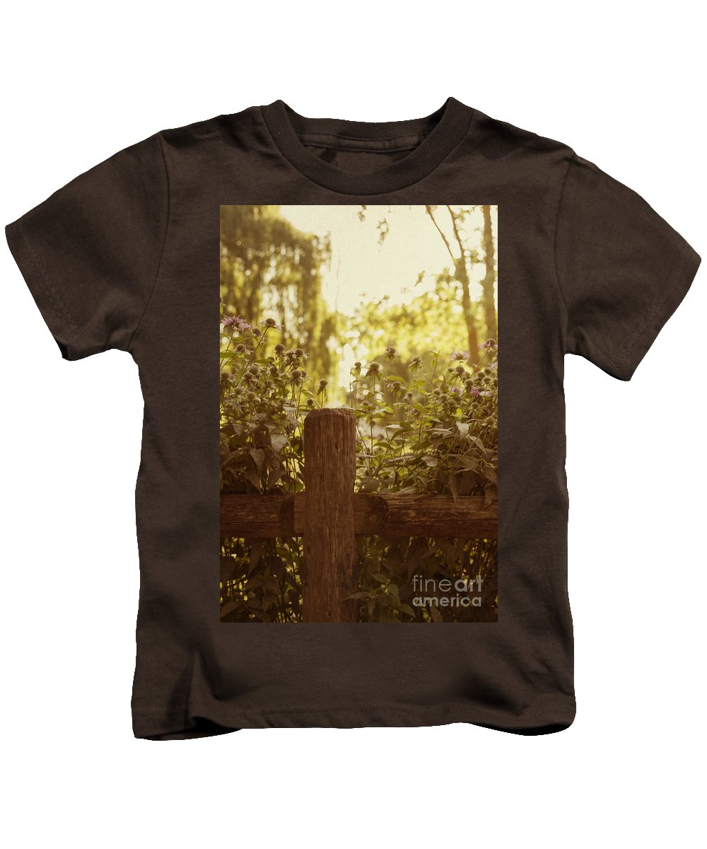 Fence Kids T-Shirt featuring the photograph A Good Morning by Margie Hurwich