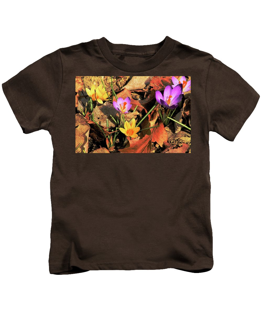 Flowers Kids T-Shirt featuring the photograph A New Season Blooms by Karol Livote
