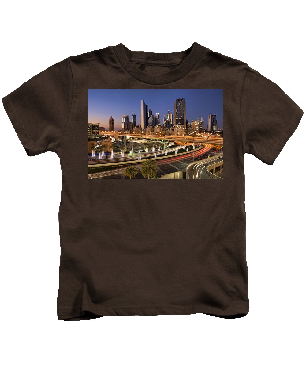 Dubai Kids T-Shirt featuring the photograph A View From A Mall by Robert Work
