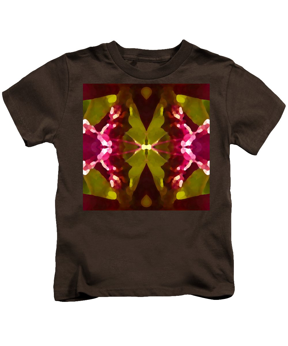 Contemporary Kids T-Shirt featuring the painting Abstract Crystal Butterfly by Amy Vangsgard