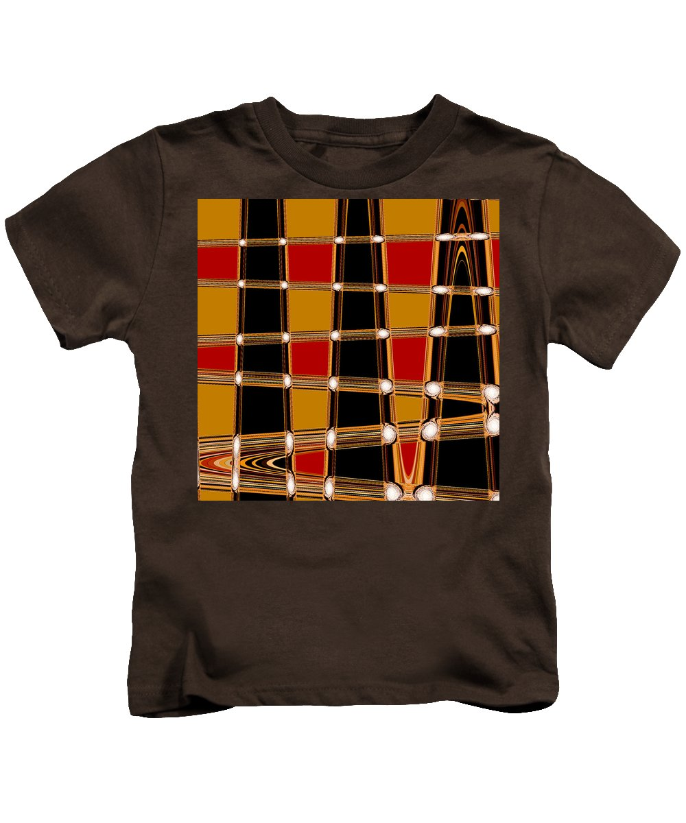 Abstract Kids T-Shirt featuring the digital art Abstract Lines by Russell Sherwood