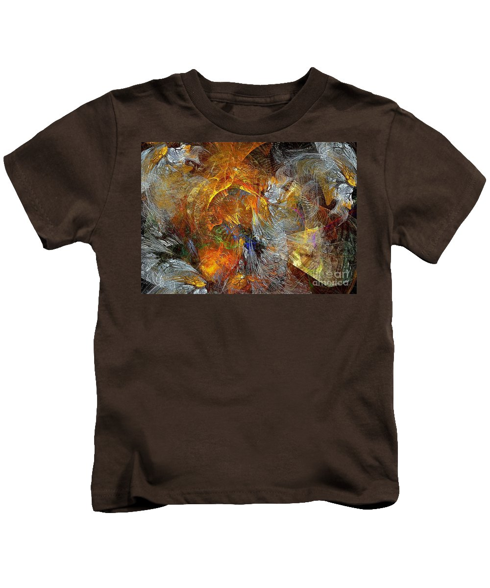 Abstract Kids T-Shirt featuring the digital art Abstraction 435-08-13 Marucii by Marek Lutek