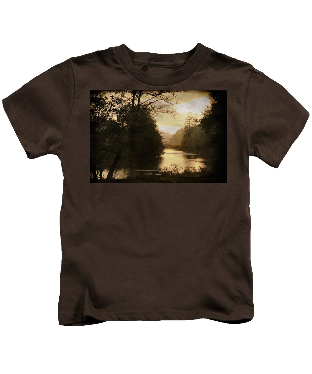 Coos Bay Kids T-Shirt featuring the photograph After All Is Said And Done by Sally Bauer