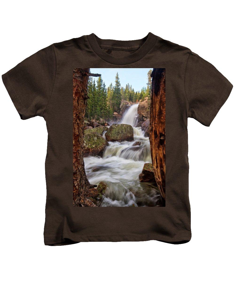 Rmnp Kids T-Shirt featuring the photograph Alberta Falls II by Ronda Kimbrow
