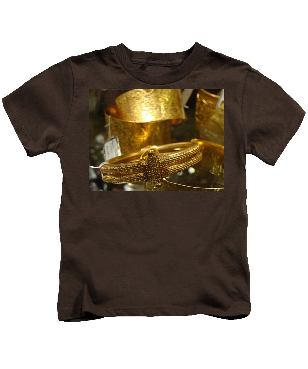 Indian Jewelry Kids T-Shirt featuring the photograph All That Glitters by Ira Shander