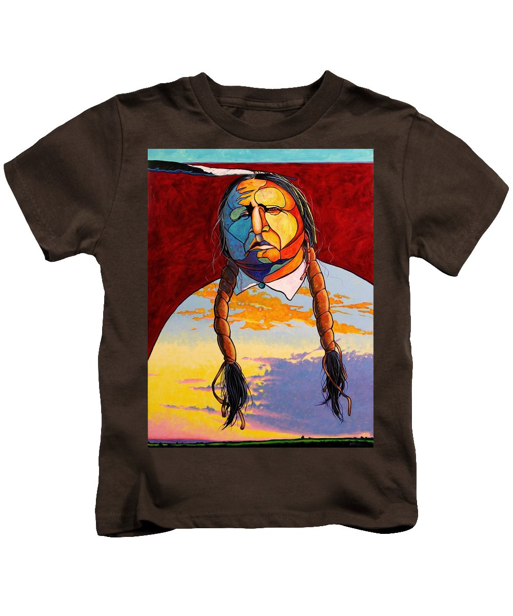 Spiritual Kids T-Shirt featuring the painting All That I Am by Joe Triano