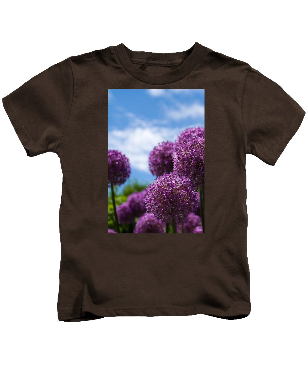 Allium Kids T-Shirt featuring the photograph Allium by Brian Caldwell
