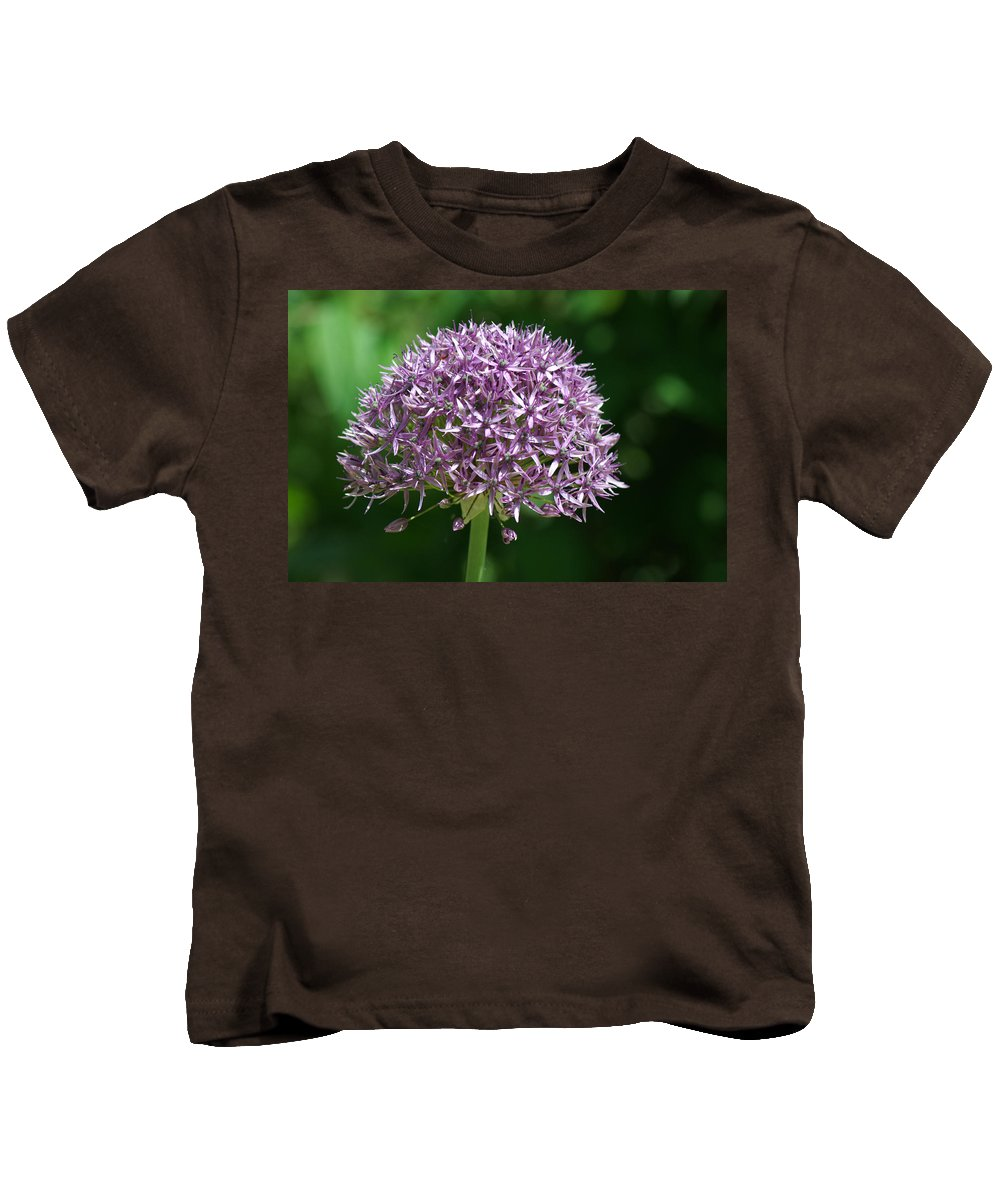 Allium Kids T-Shirt featuring the photograph Allium by Chris Day