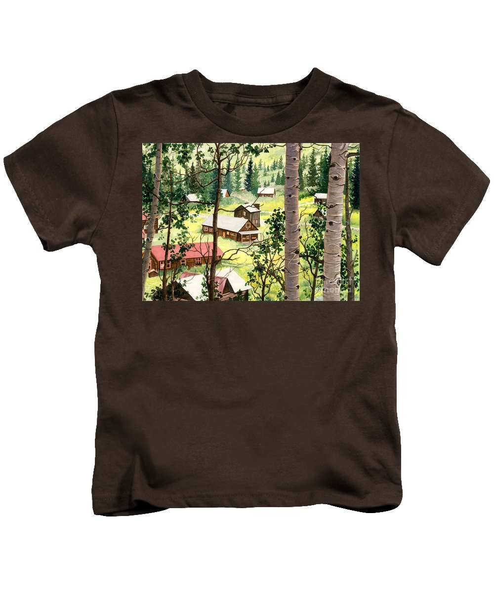 Barbara Jewell Kids T-Shirt featuring the painting Almost Heaven by Barbara Jewell