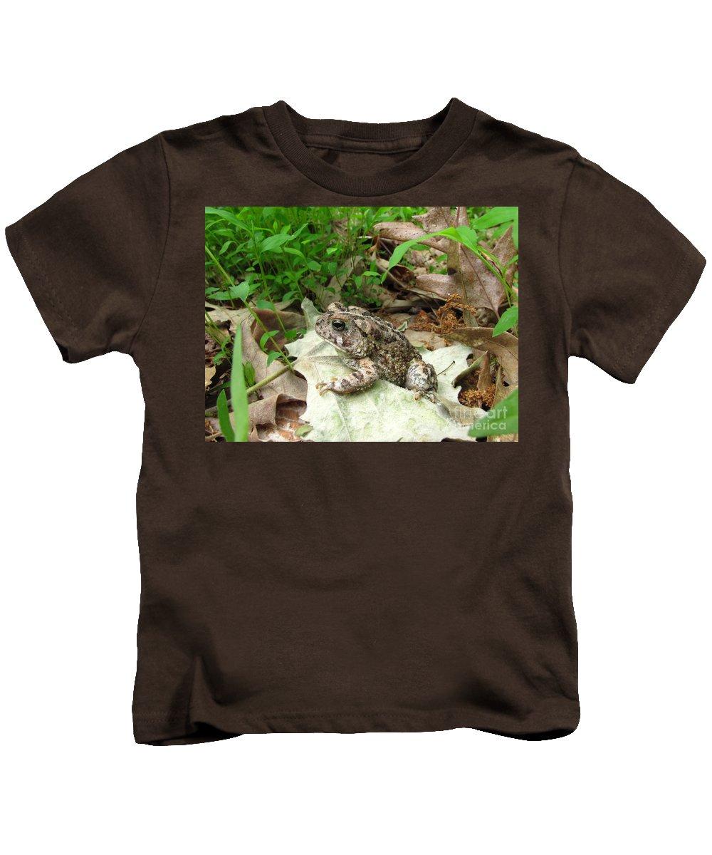 American Toad Photographs Prints Amphibian Photograph Prints Biodiversity Nature Wildlife Forest Ecology Biology Fauna Creatures Kids T-Shirt featuring the photograph American Toad by Joshua Bales