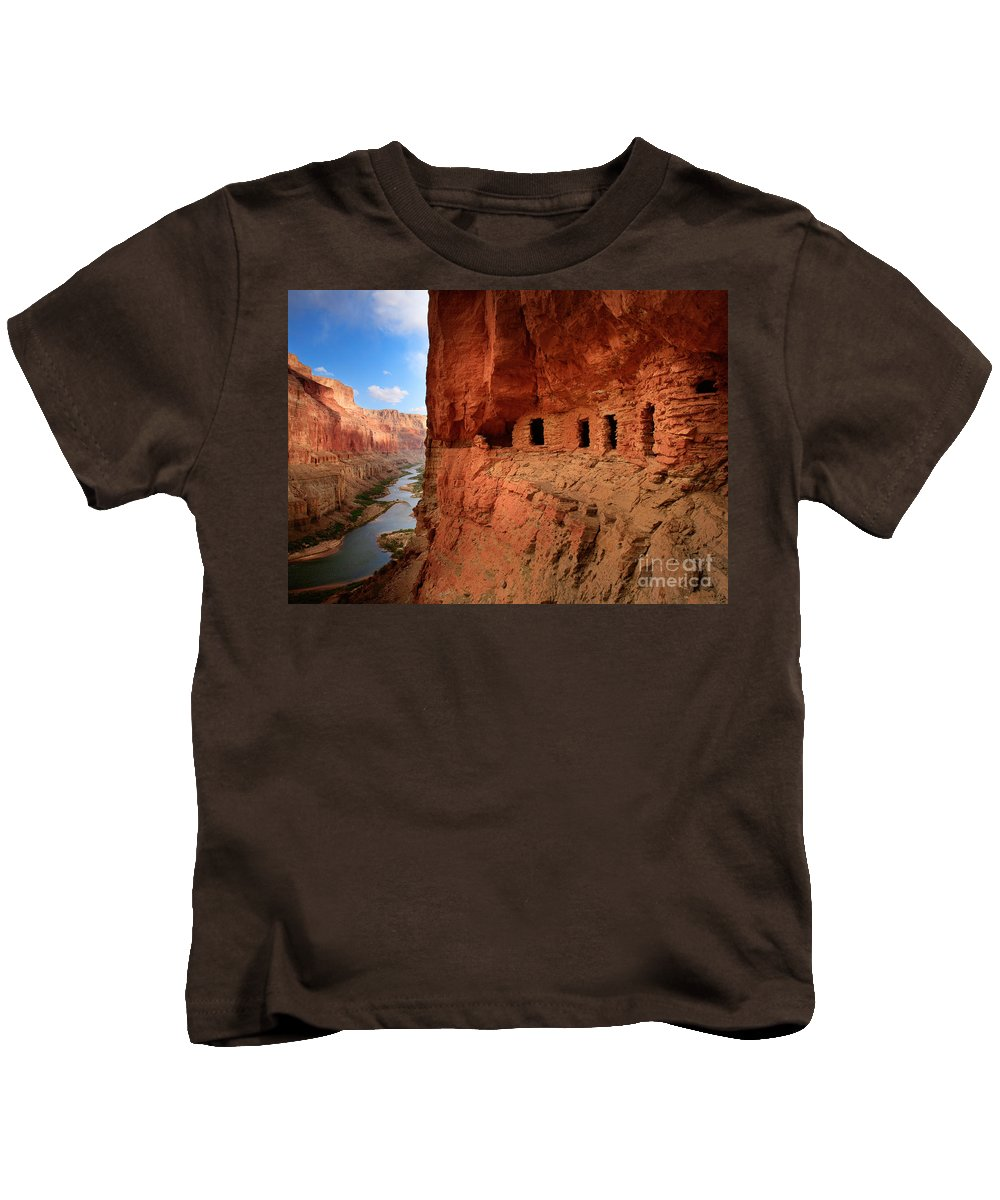 Grand Canyon Kids T-Shirt featuring the photograph Anasazi Granaries by Inge Johnsson
