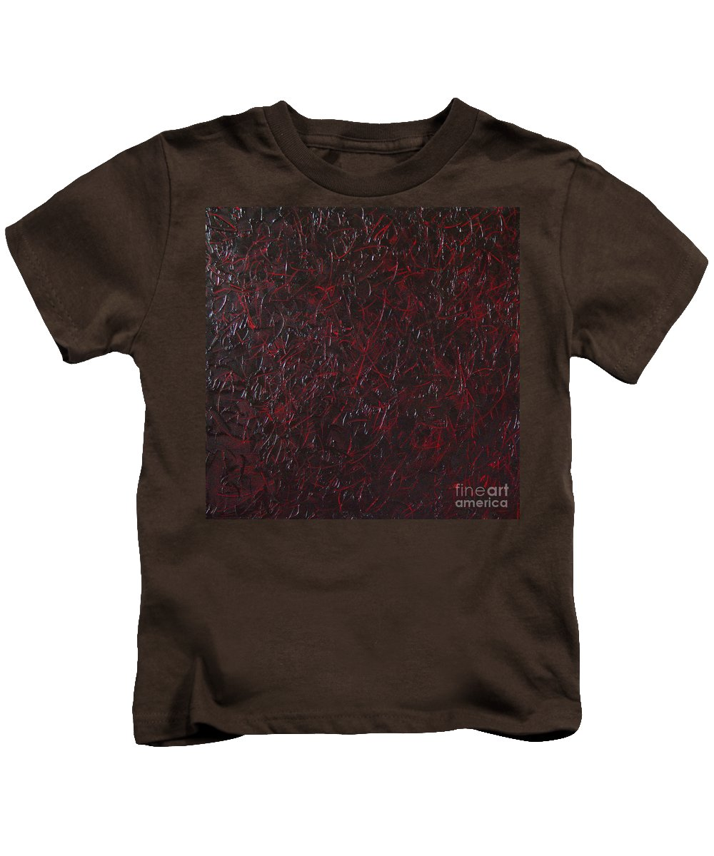 Abstract Kids T-Shirt featuring the painting Another Shedding by Dean Triolo