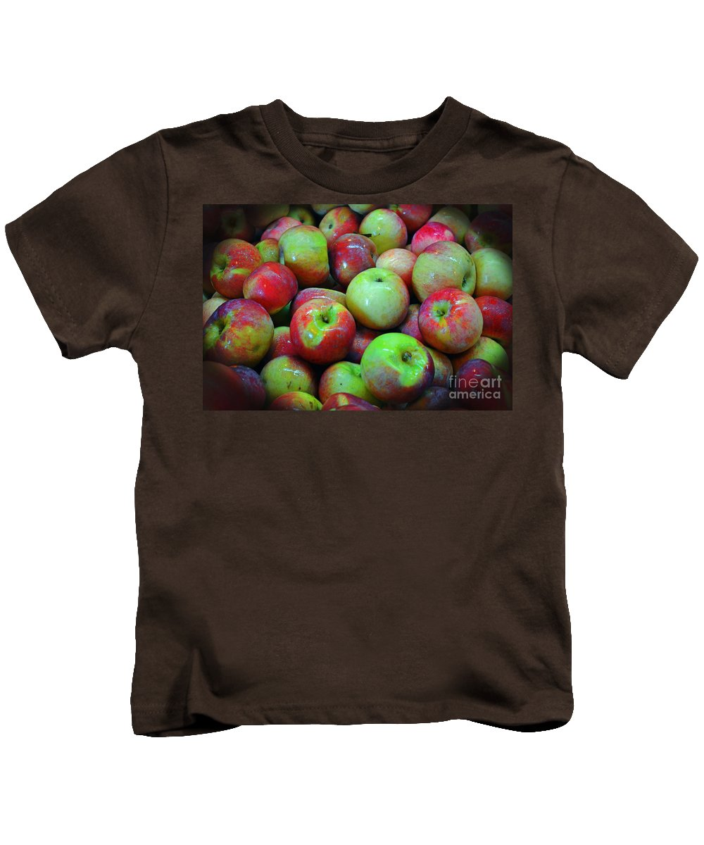 Apple Kids T-Shirt featuring the photograph Apples Apples And More Apples by Kevin Fortier