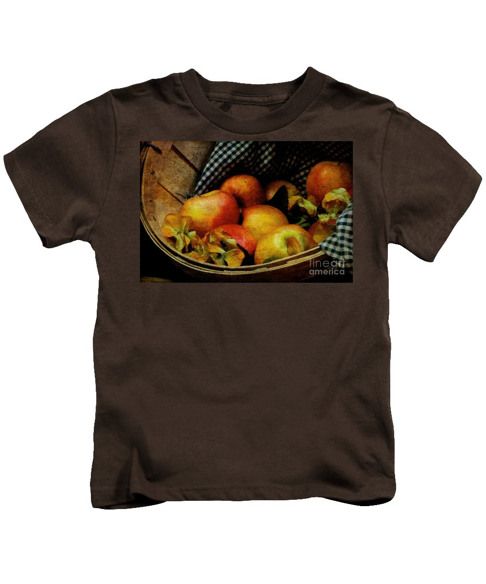 Halloween Kids T-Shirt featuring the photograph Autumn Harvest by Lois Bryan