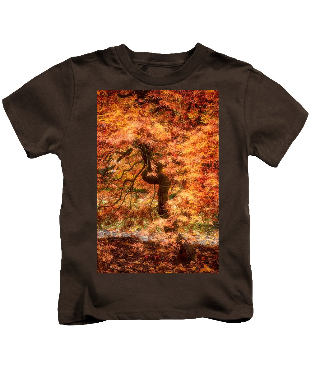 Maple Kids T-Shirt featuring the photograph Autumn Maple by Bobbie Climer
