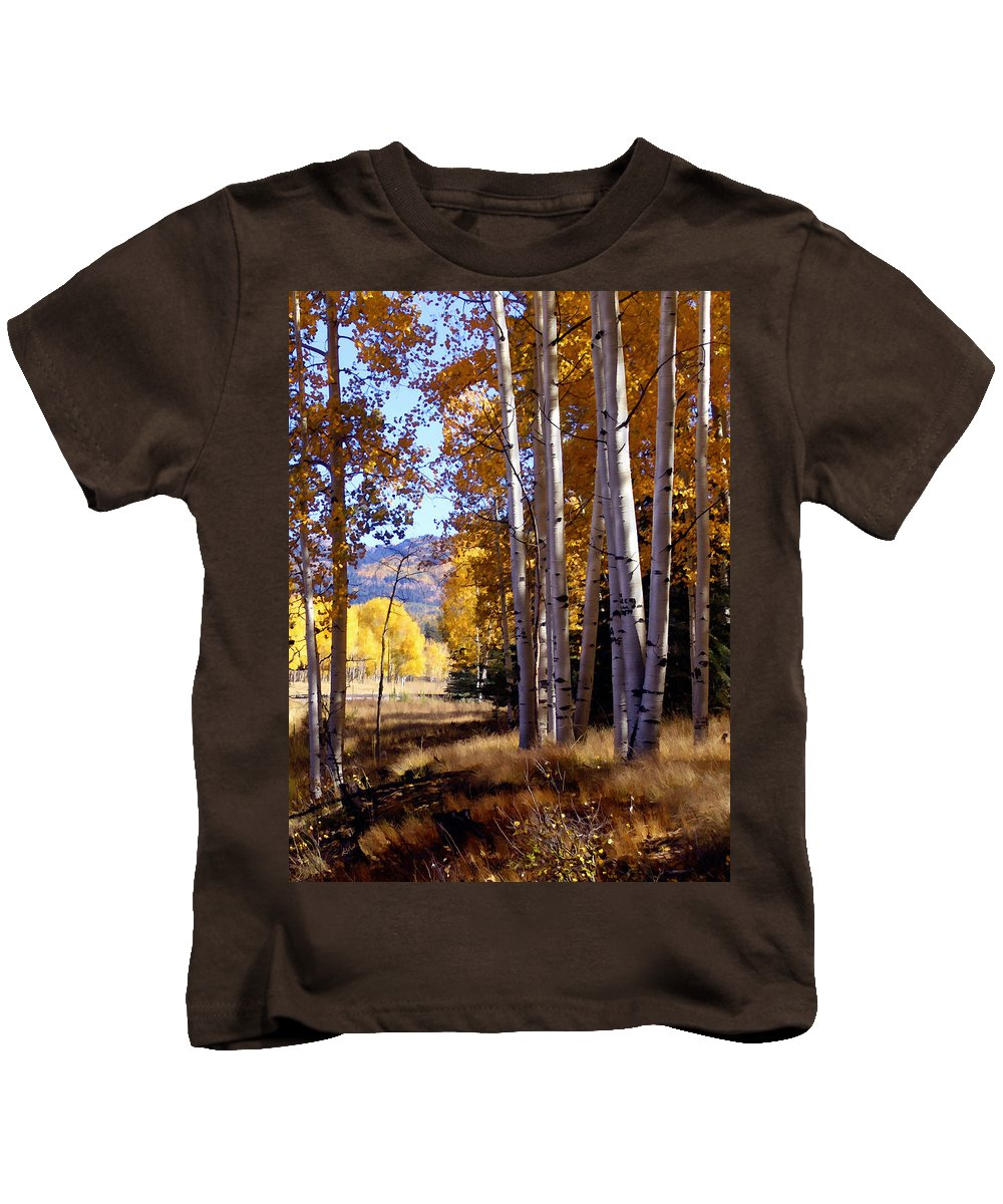 Trees Kids T-Shirt featuring the photograph Autumn Paint Chama New Mexico by Kurt Van Wagner