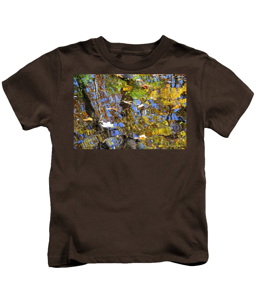 Autumn Kids T-Shirt featuring the photograph Autumnal Abstracious by Frozen in Time Fine Art Photography