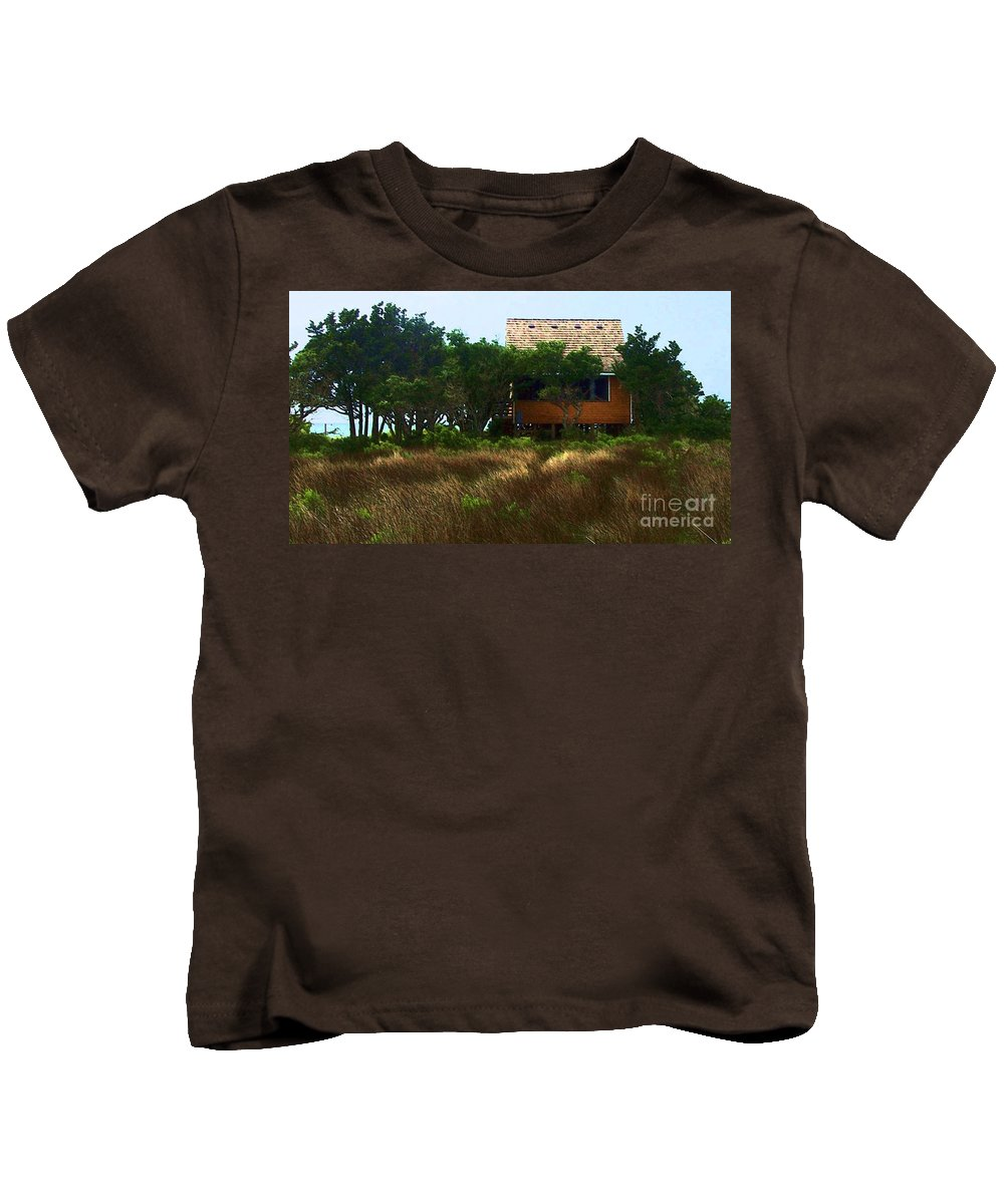 Beach Kids T-Shirt featuring the photograph Back To The Island by Debbi Granruth