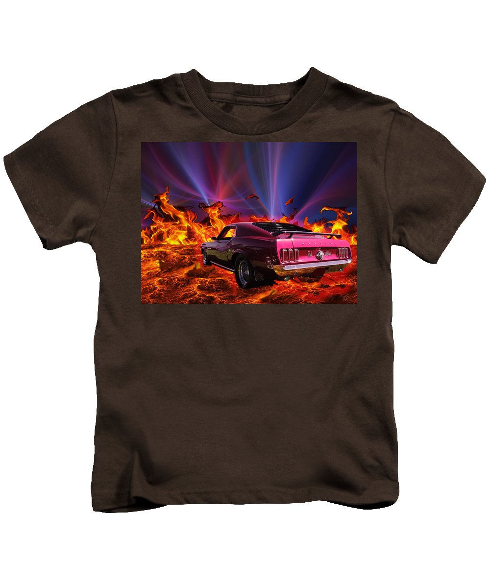 Cars Kids T-Shirt featuring the photograph Bad Attitude by Chris Thomas