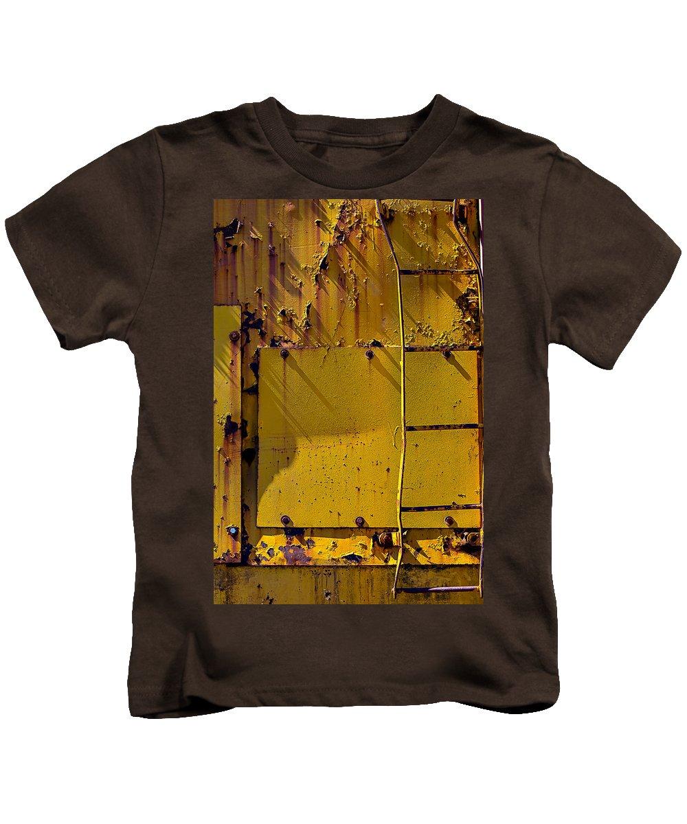 Bent Ladder Kids T-Shirt featuring the photograph Bent Ladder by Garry Gay