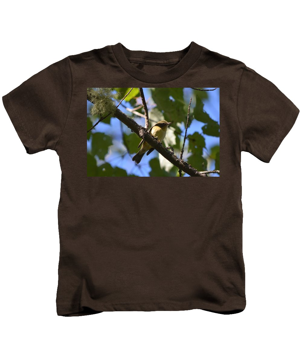 Nature Kids T-Shirt featuring the photograph Black-throated Blue Warbler by James Petersen