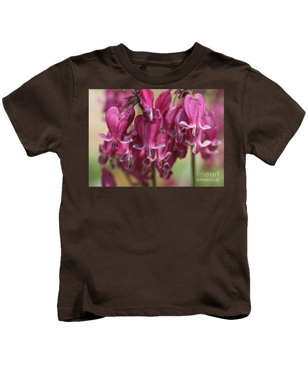 Bleedinghearts Kids T-Shirt featuring the photograph Bleeding Hearts by Deborah Benoit