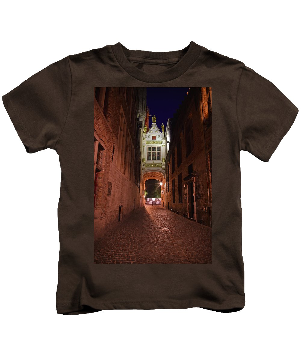 3scape Kids T-Shirt featuring the photograph Blind Donkey Alley by Adam Romanowicz
