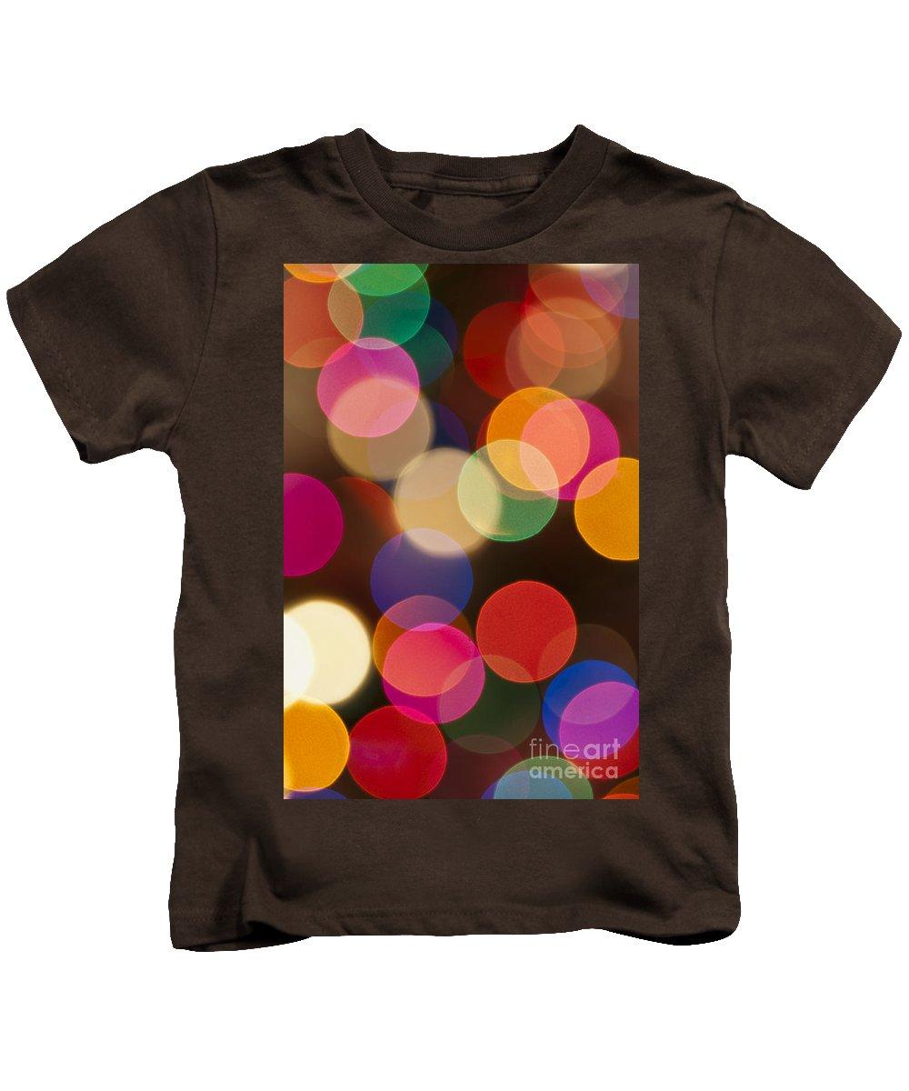 Fairy Lights Kids T-Shirt featuring the photograph Bokeh by Steve Purnell