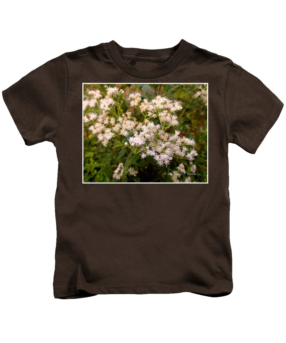 Flowers Kids T-Shirt featuring the photograph Bony View by Kendall Kessler