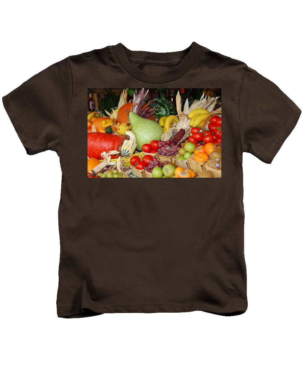 Fruits Kids T-Shirt featuring the photograph Bountiful Harvest by Lynn Bauer