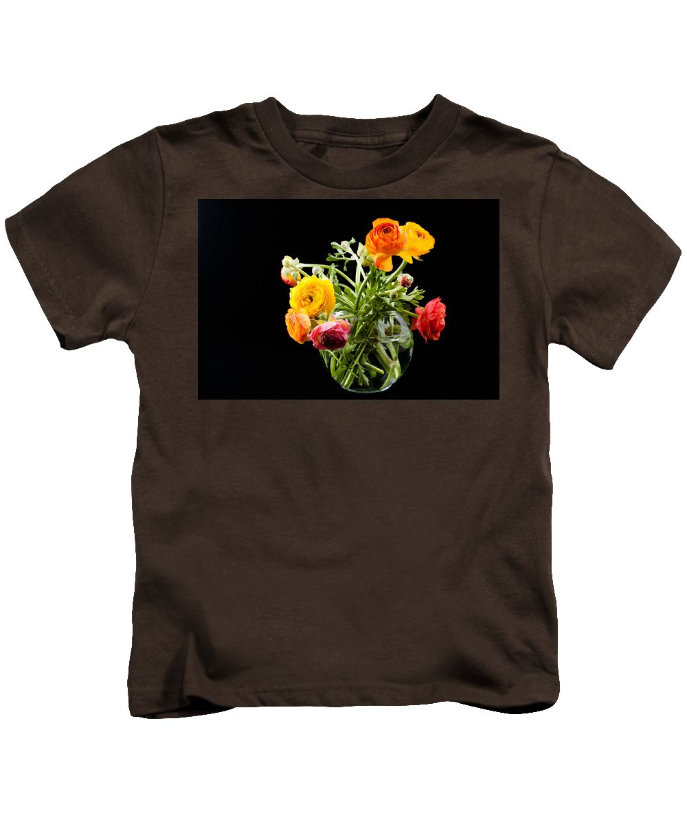 Beautiful Kids T-Shirt featuring the photograph Bouquet Of Ranunculus by Zina Zinchik