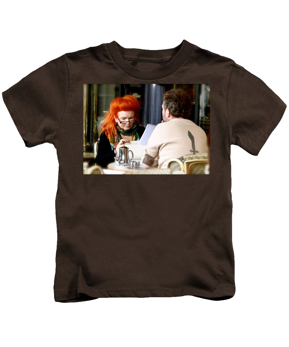 Redheads Kids T-Shirt featuring the photograph Breakfast Club by Ira Shander