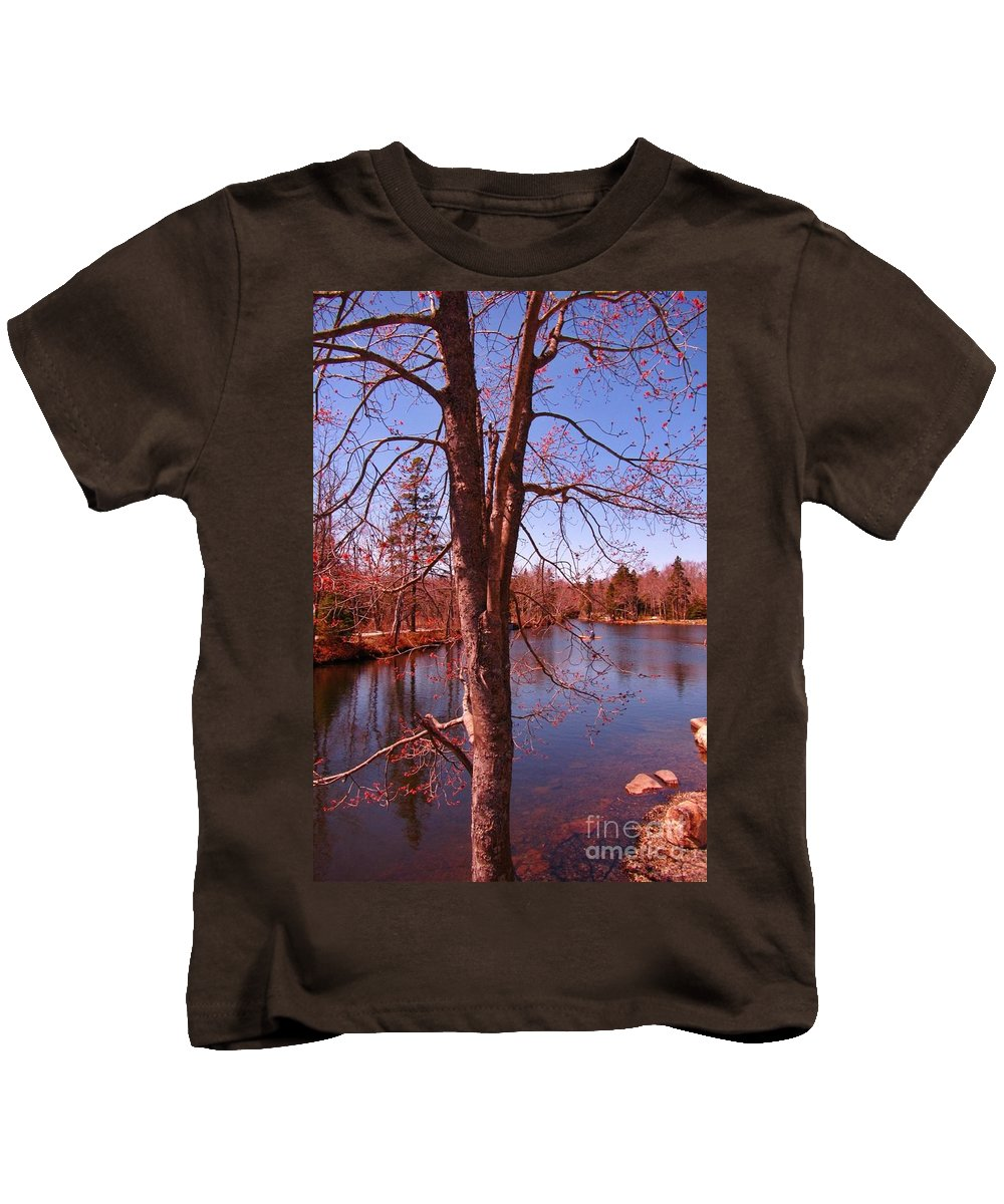 Budding Spring Tree Kids T-Shirt featuring the photograph Budding Spring Tree by John Malone