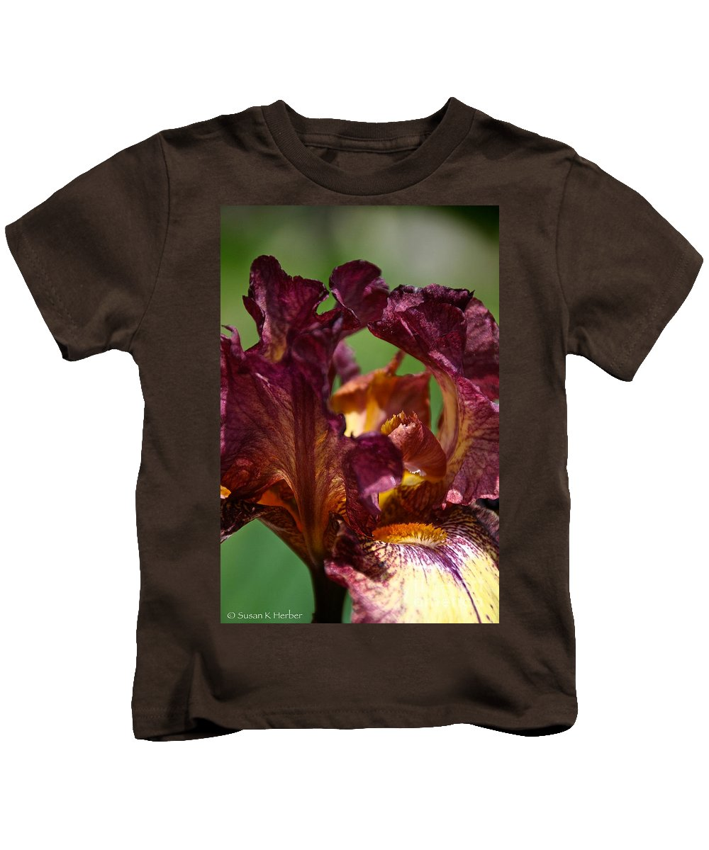 Flower Kids T-Shirt featuring the photograph Burgundy Blossom by Susan Herber
