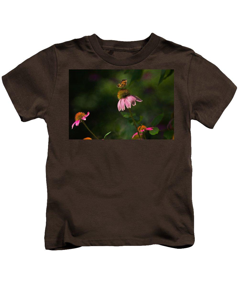 Butterfly Kids T-Shirt featuring the photograph Butterfly Garden by Kim Henderson