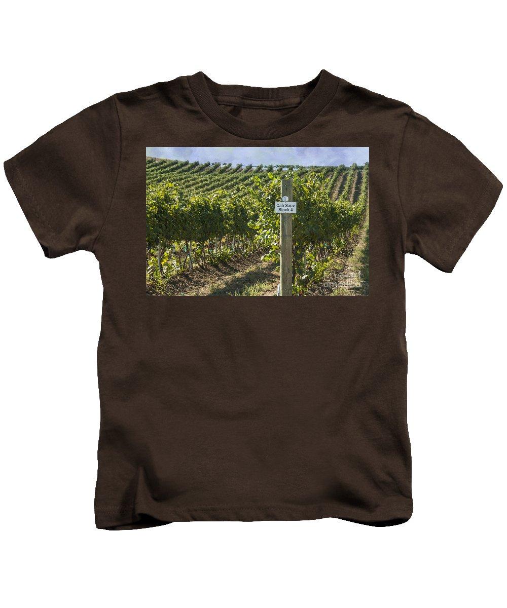 America Kids T-Shirt featuring the photograph Cab Sauv by Juli Scalzi