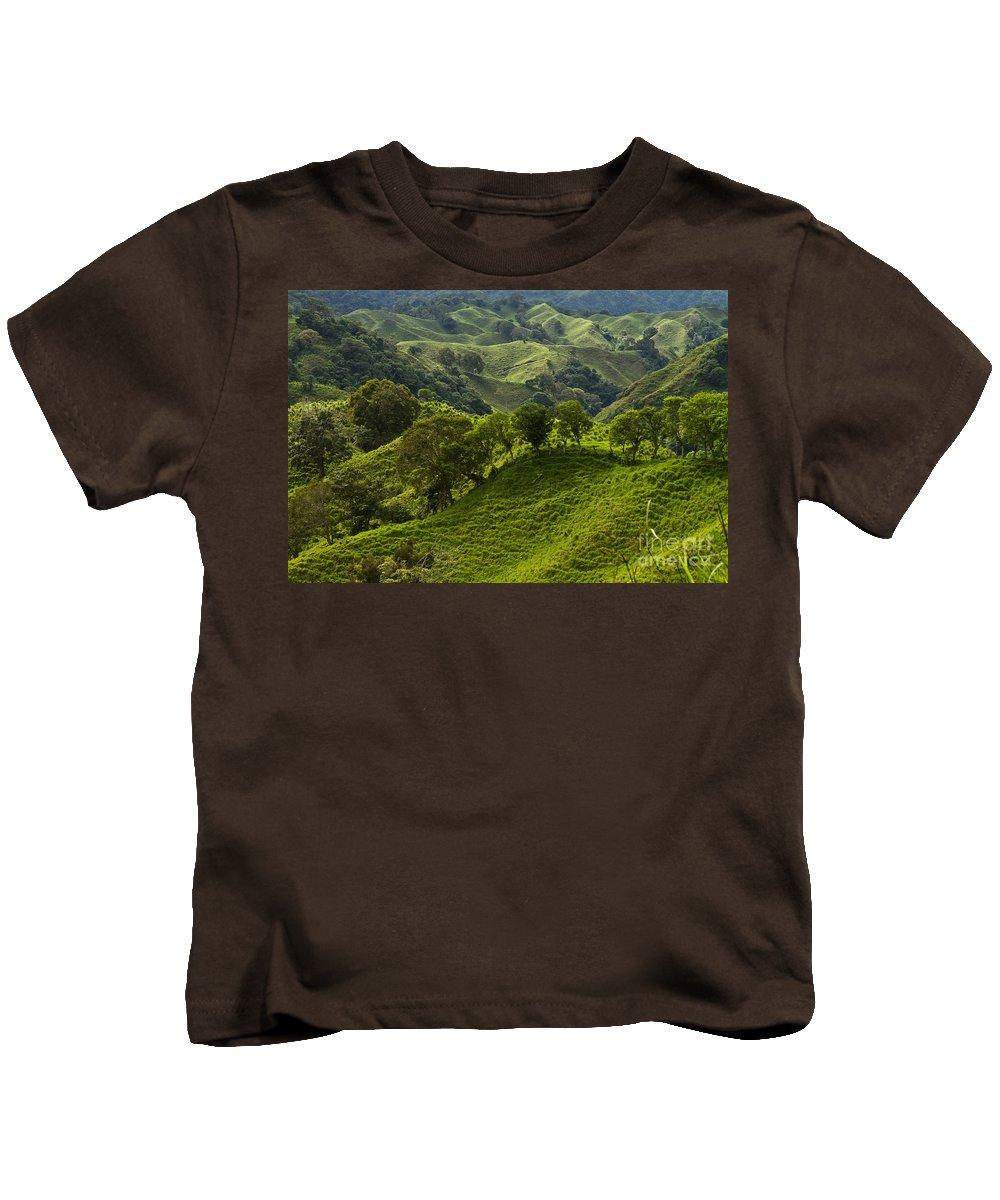 Heiko Kids T-Shirt featuring the photograph Caizan Hills by Heiko Koehrer-Wagner