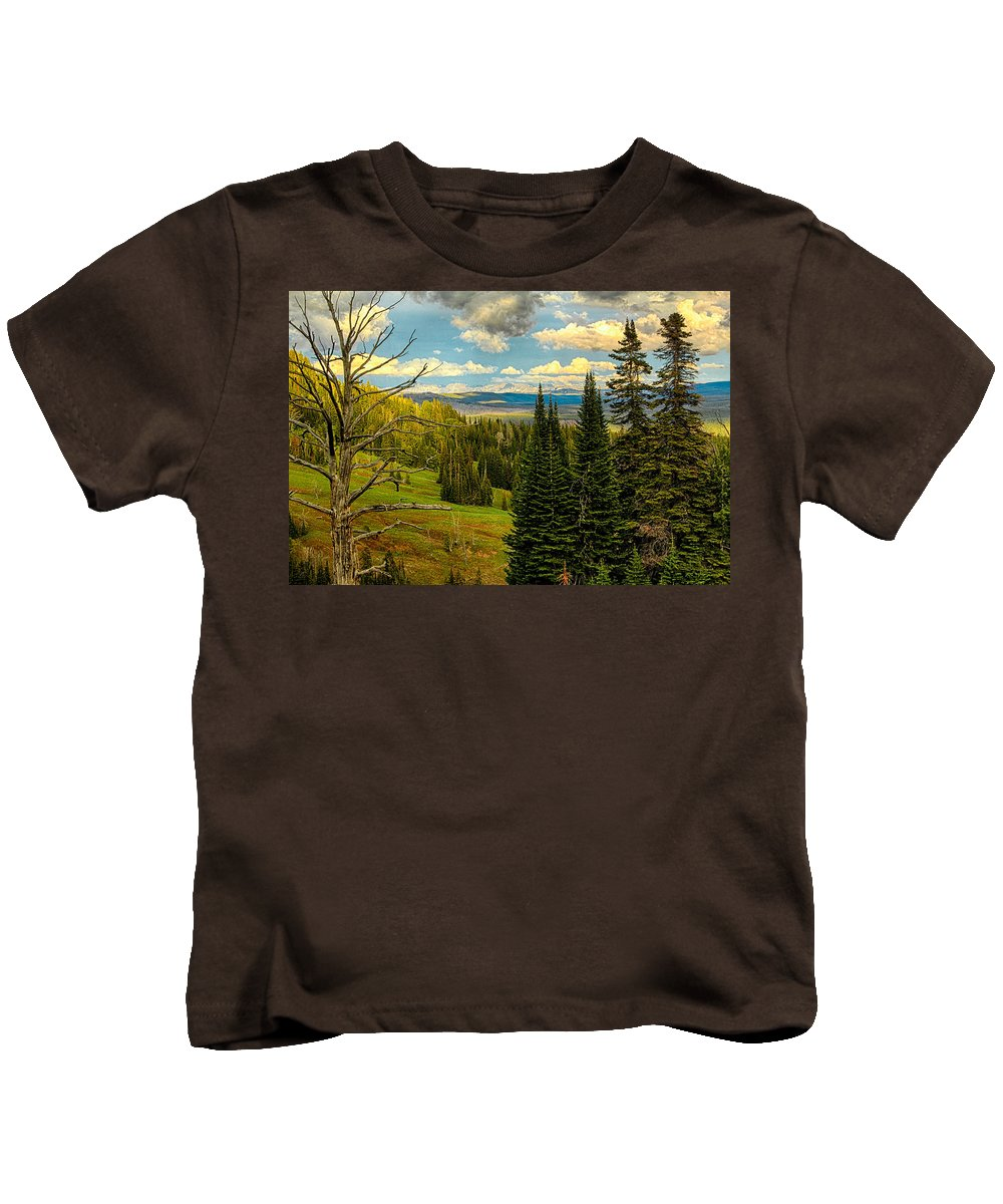Wyoming Kids T-Shirt featuring the photograph Call Of The Wild by Michael J Samuels