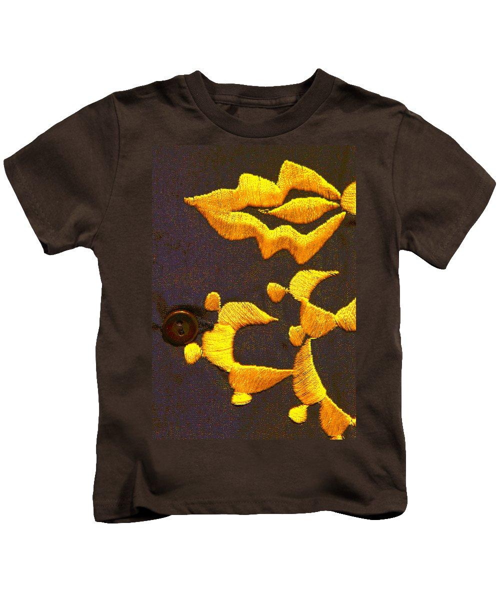 Johnny Cash Kids T-Shirt featuring the photograph Cash Brass by Jeff Kurtz