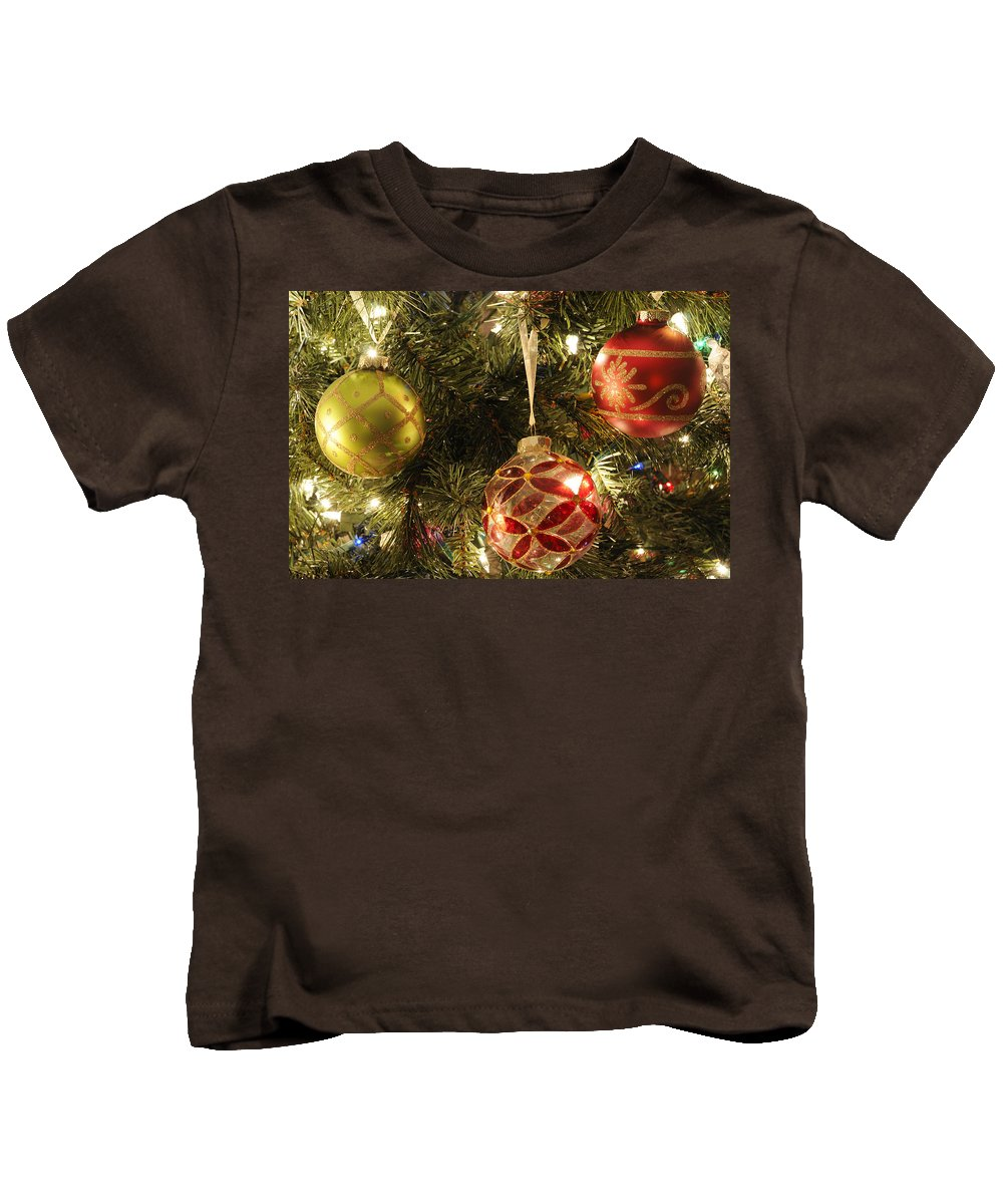 Tree Kids T-Shirt featuring the photograph Christmas Cheer by Luke Moore