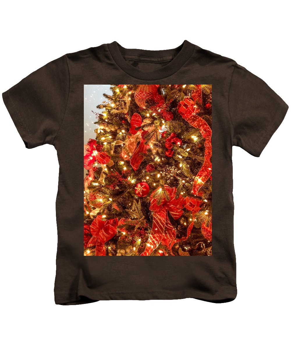 Optical Playground By Mp Ray Kids T-Shirt featuring the photograph Christmas Dazzle by Optical Playground By MP Ray