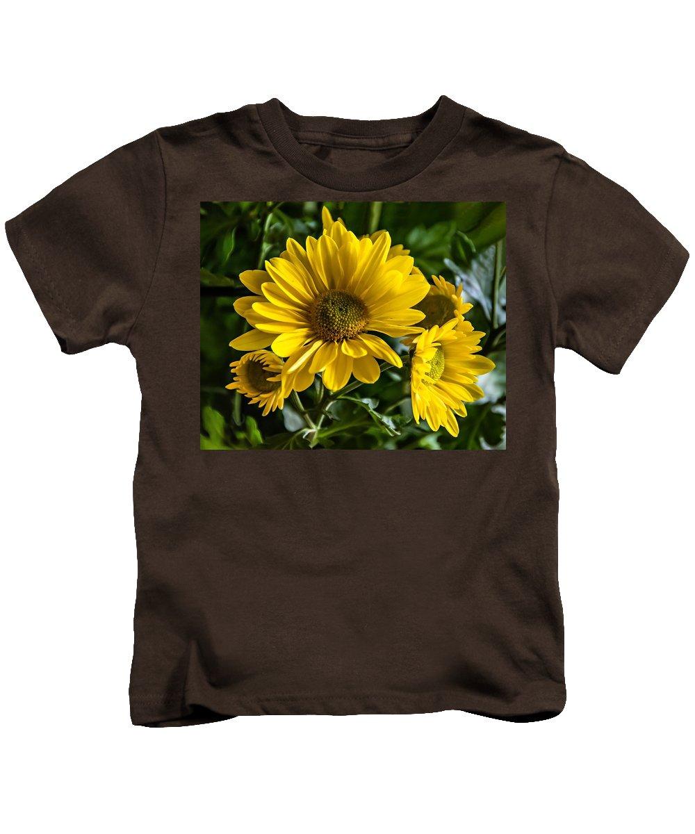 Chrysanthemum Kids T-Shirt featuring the photograph Chrysanthemum by Steve Harrington