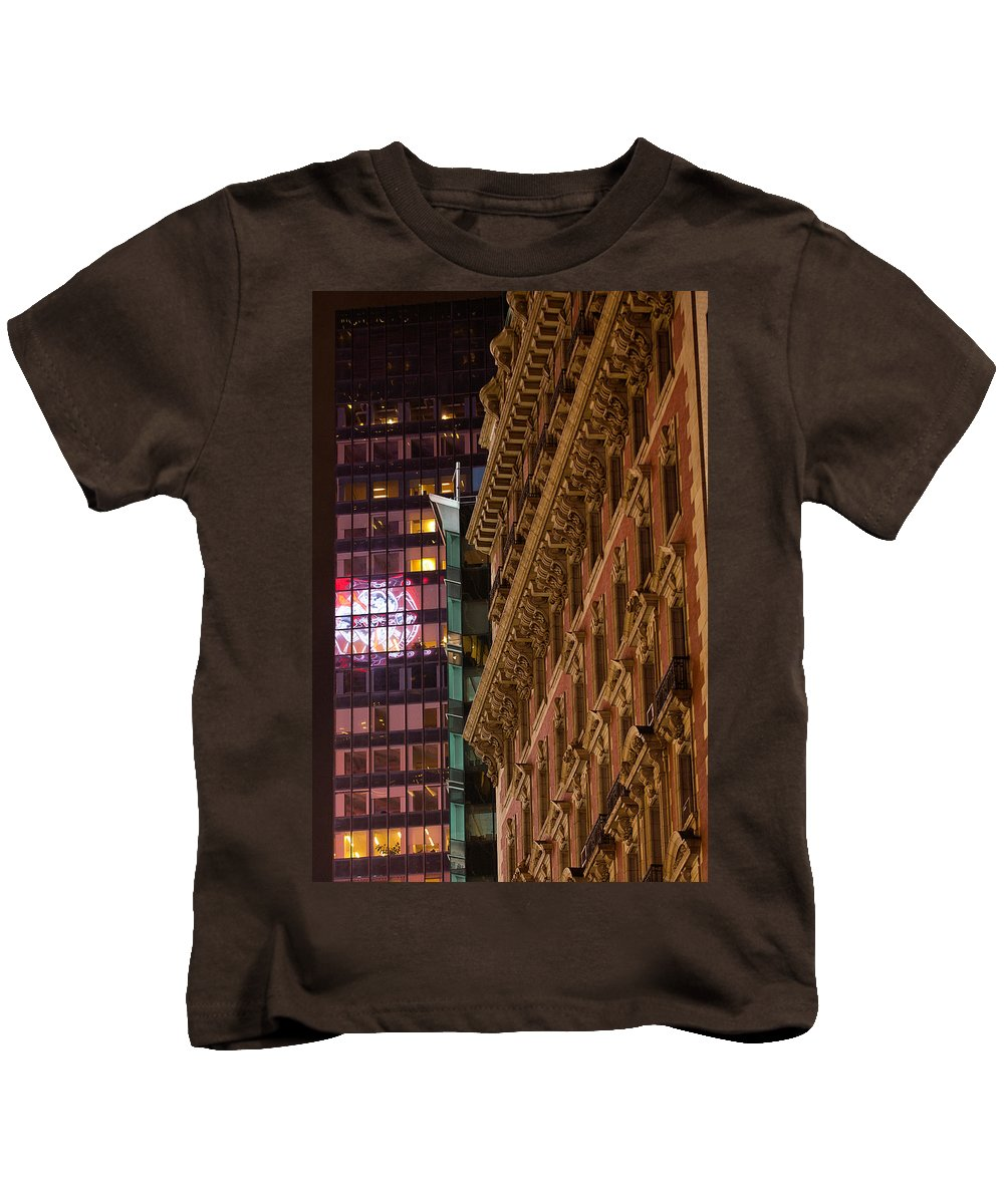 """new York City"" Kids T-Shirt featuring the photograph Classic Vs Modern by Paul Mangold"