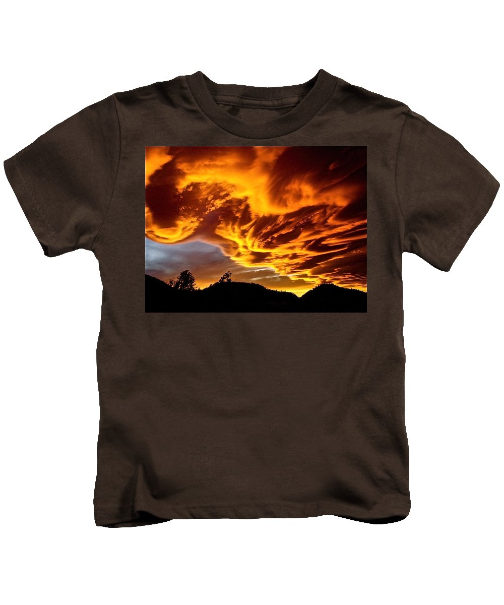 Clouds Kids T-Shirt featuring the photograph Clouds 2 by Pamela Cooper