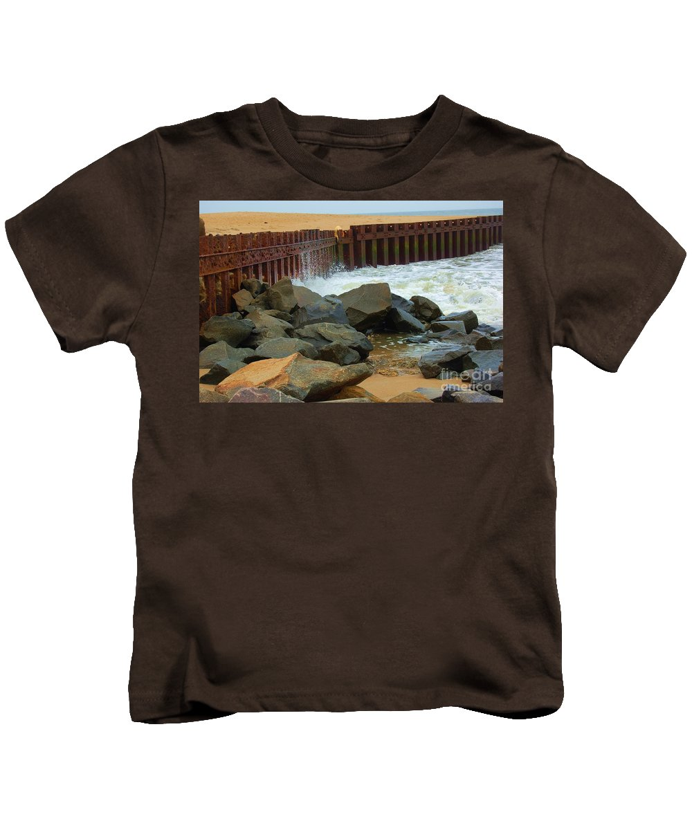 Water Kids T-Shirt featuring the photograph Coast Of Carolina by Debbi Granruth